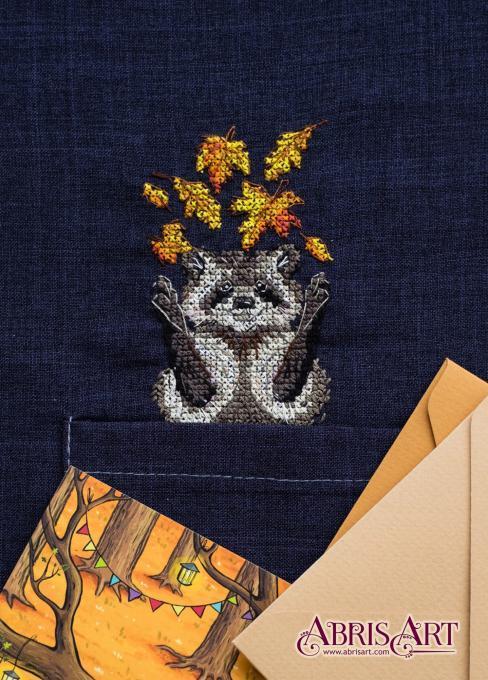 Набор для вышивки крестом на одежде Енотик