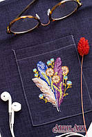 Набор для вышивки крестом на одежде Перышки и одуванчики