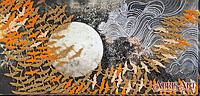 Набор для вышивки бисером на холсте Журавли