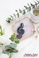 Набор для вышивки украшения Скрипичный ключ