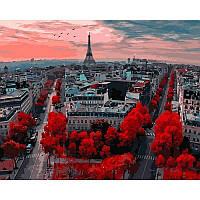 """Картина по номерам, картина-раскраска  """"Алые краски Парижа""""  40Х50см VP833"""