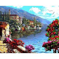 Картина по номерам Цветущая набережная 40Х50 Babylon VP923