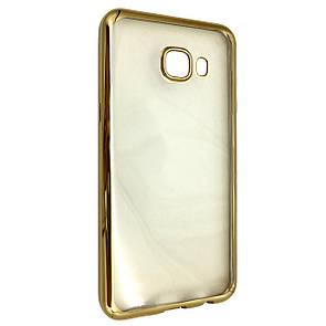 Чехол хром борт Samsung C5 (gold)