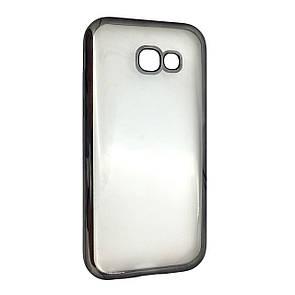 Чехол-накладка DK-Case силикон с хром бортом для Samsung A520 (2017) (grey)