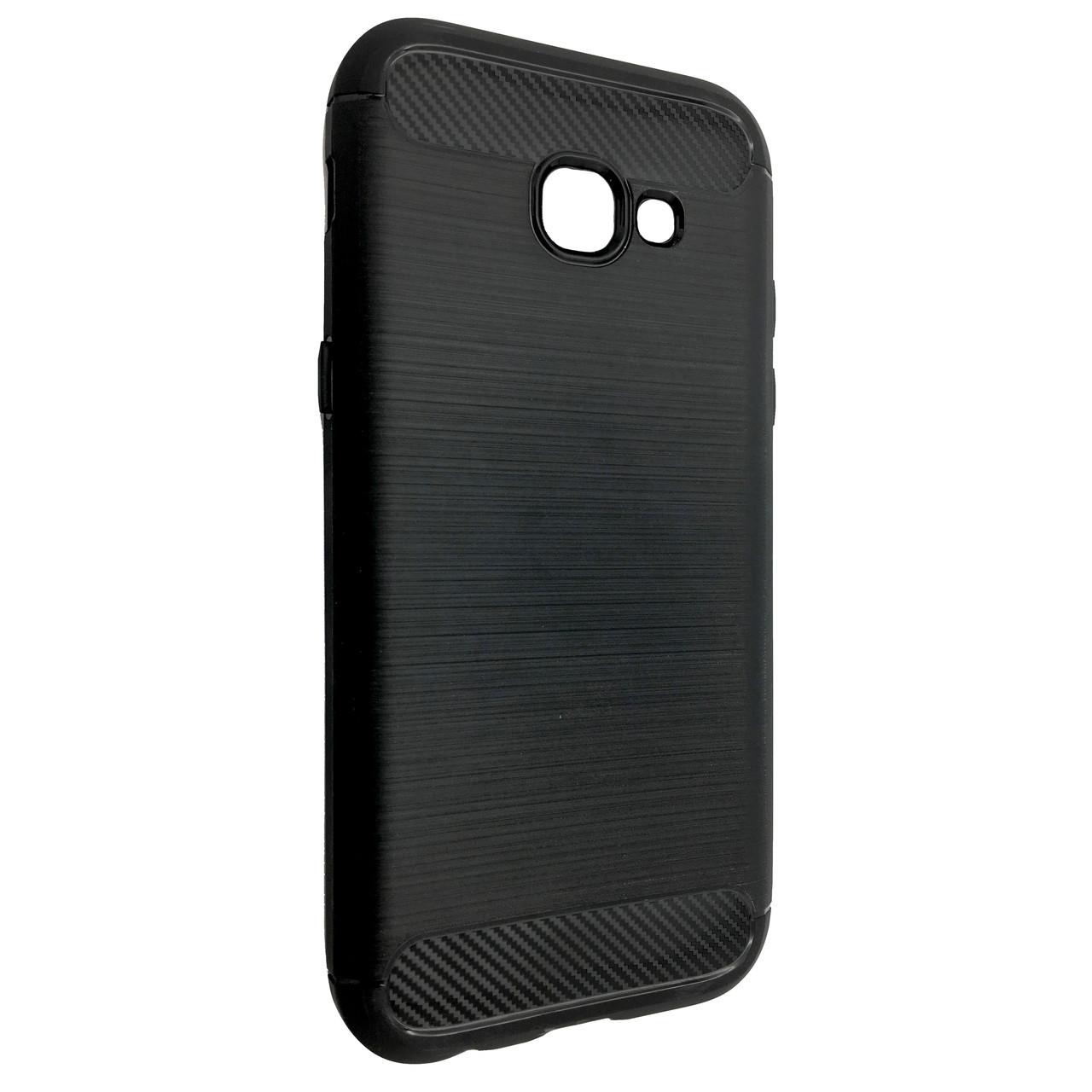 Чехол Carbon Steel Samsung A520 (2017) (black)
