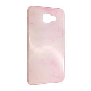 Чехол-накладка DK-Case силикон Мрамор для Samsung A310 (pink)