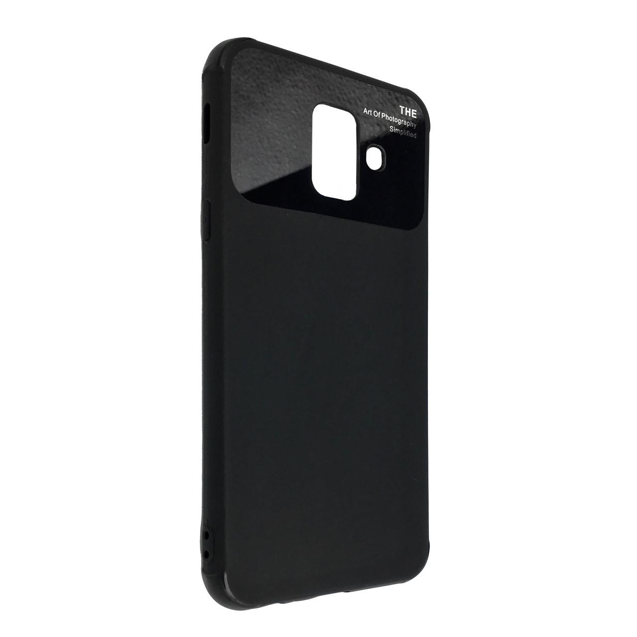 Чехол стекло Soft Totu Arte Samsung A6 Plus (2018) (black)