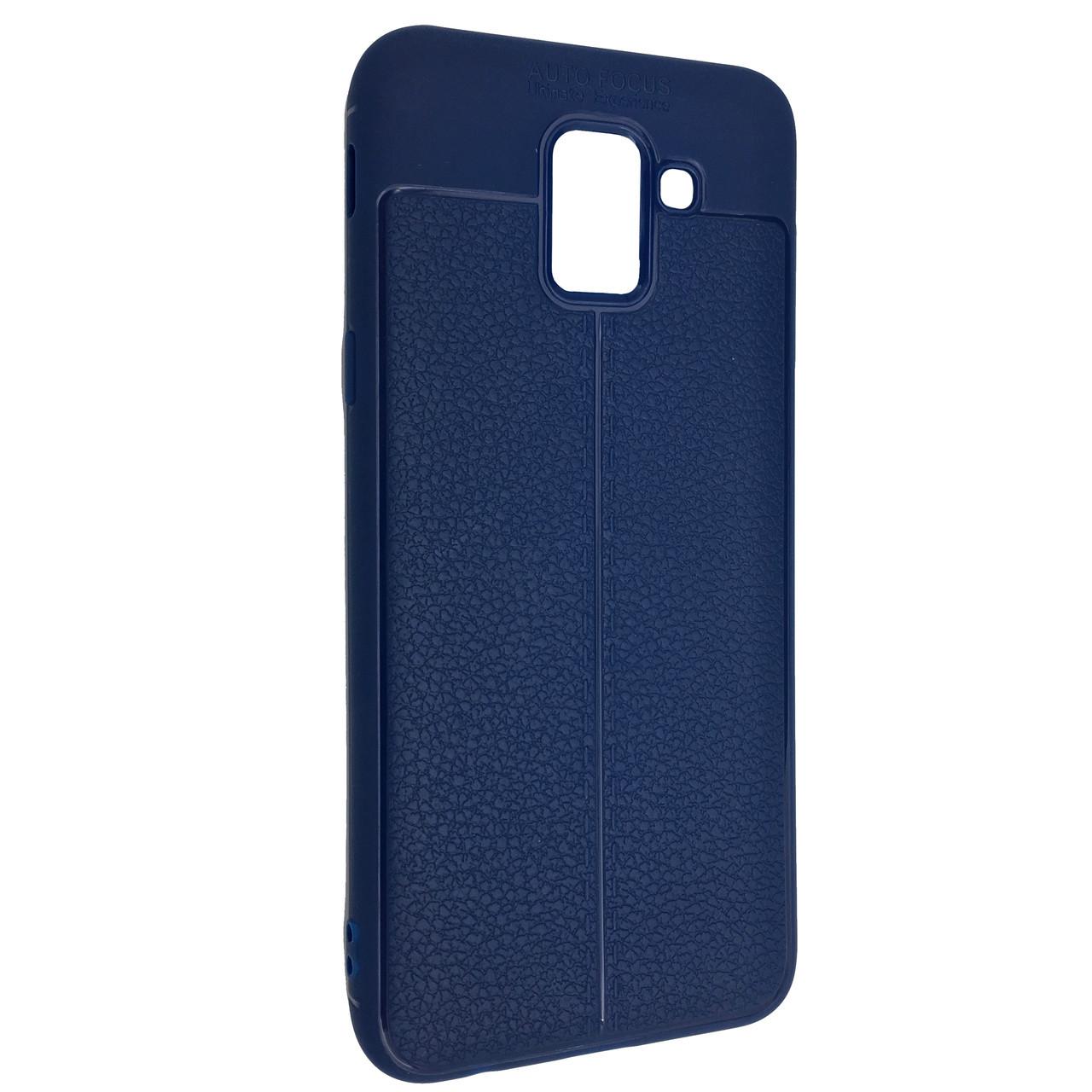 Чехол под кожу Autofocus TPU Samsung A6 (2018) (blue)