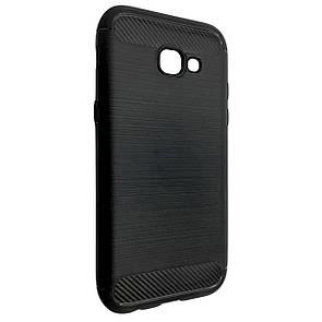 Чехол-накладка DK-Case силикон Carbon Steel для Samsung A320 (2017) (black)