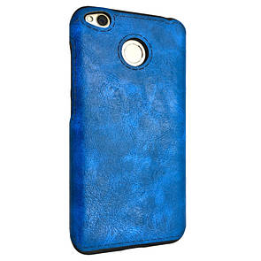 Чехол кожа Sitched Xiaomi Redmi 4X (blue)