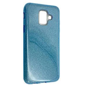 Чехол-накладка DK-Case Silicone Glitter Heaven Rain для Samsung A6 (2018) (blue)