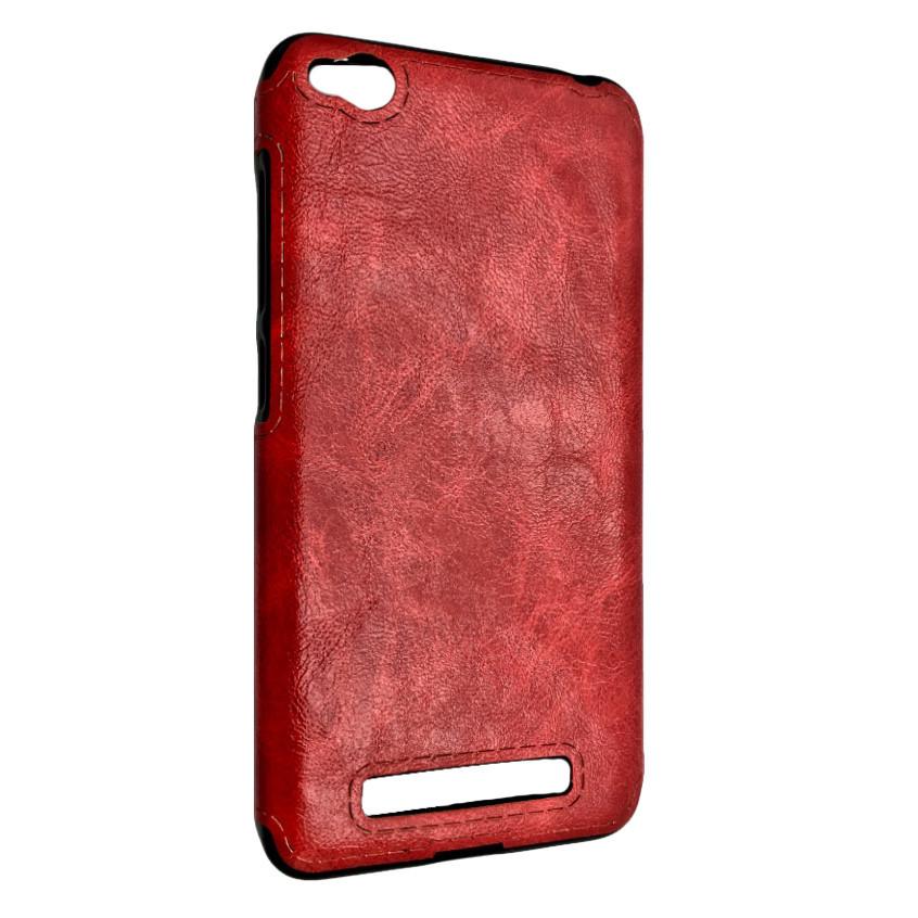 Чехол кожа Sitched Xiaomi Redmi 4A (red)