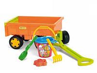 Оригинал. Прицеп с игрушками для песка Wader 10952