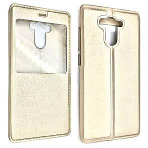 Чехол -книжка кожа с пластиком Flip Cover Xiaomi Redmi 4/4 Prime (gold)