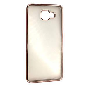 Чехол с хром бортами Samsung A710 (rose gold)