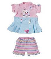 Оригинал. Набор Платье с собачкой и Шортами для куклы My Little Baby Born Zapf Creation 818084S