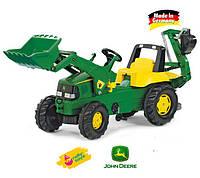 Оригинал. Трактор Педальный Junior John Deere Rolly Toys 811076