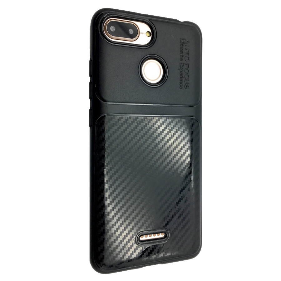 Чехол Autofocus Carbon Glance Xiaomi Redmi 6 (black)