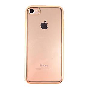 Накладка DK-Case силикон с хром бортом for Apple iPhone 7  (gold)