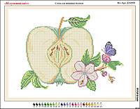 Схема вышивки бисером на габардине Яблуневий цвіт