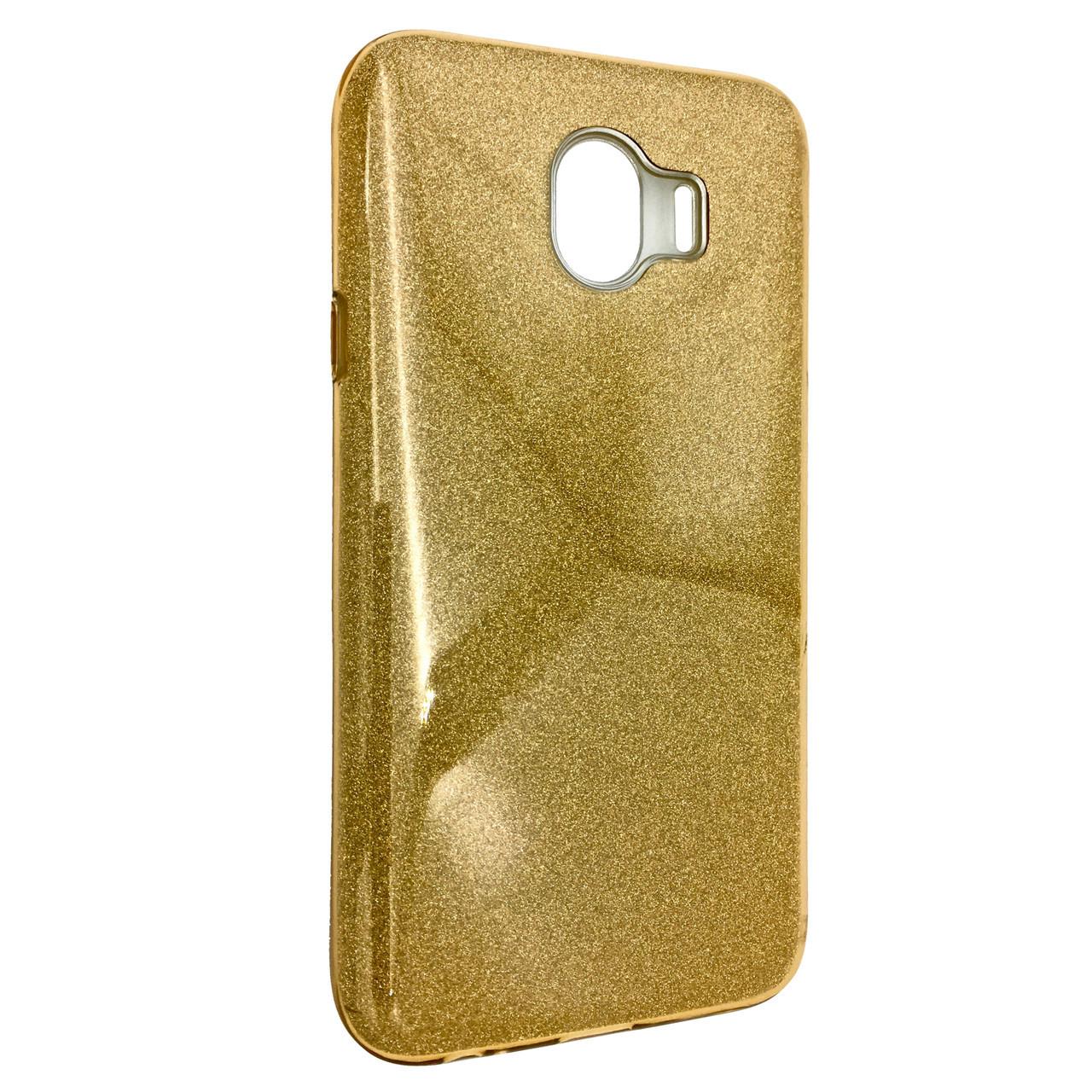 Чехол Silicone Glitter Heaven Rain Samsung J400 (2018) (gold)