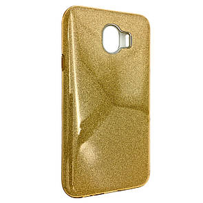 Чехол-накладка DK-Case Silicone Glitter Heaven Rain для Samsung J400 (2018) (gold)