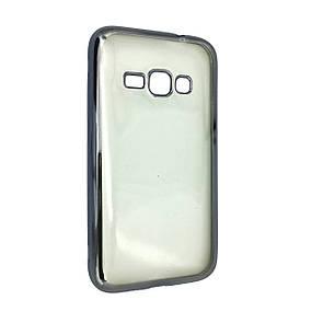 Чехол с хром бортом Samsung J320 (space grey)