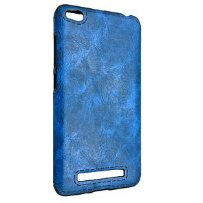 Чехол кожа Sitched Xiaomi Redmi 4A (blue)