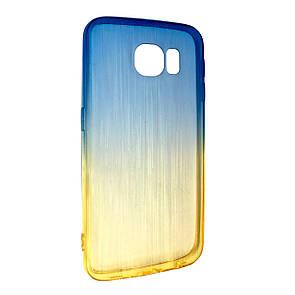 Чехол-накладка DK-Case силикон радуга градиент для SAMSUNG S6 EDGE (yellow/blue)