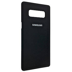 Чехол софт-тач открытый Samsung Note 8 (black)