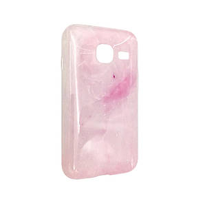 Чехол Мрамор Samsung J105 (pink)