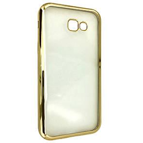 Чехол-накладка DK-Case силикон с хром бортом для Samsung A320 (2017) (gold)