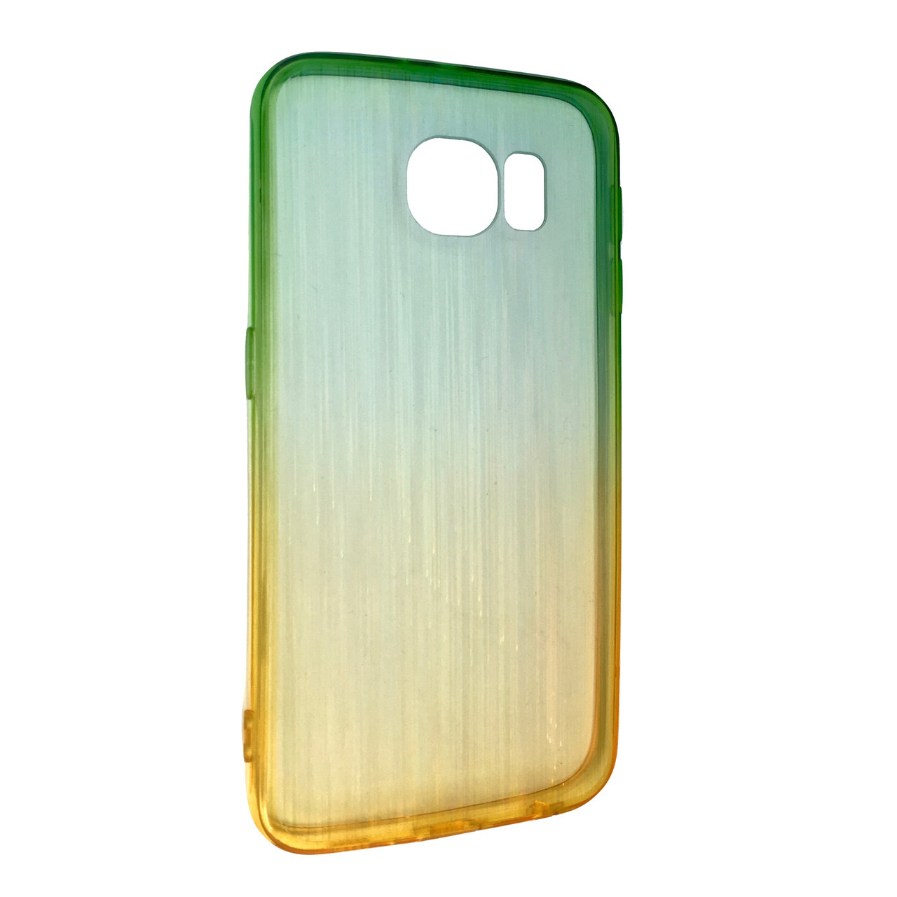 Чехол радуга градиент SAMSUNG S6 (yellow/green)