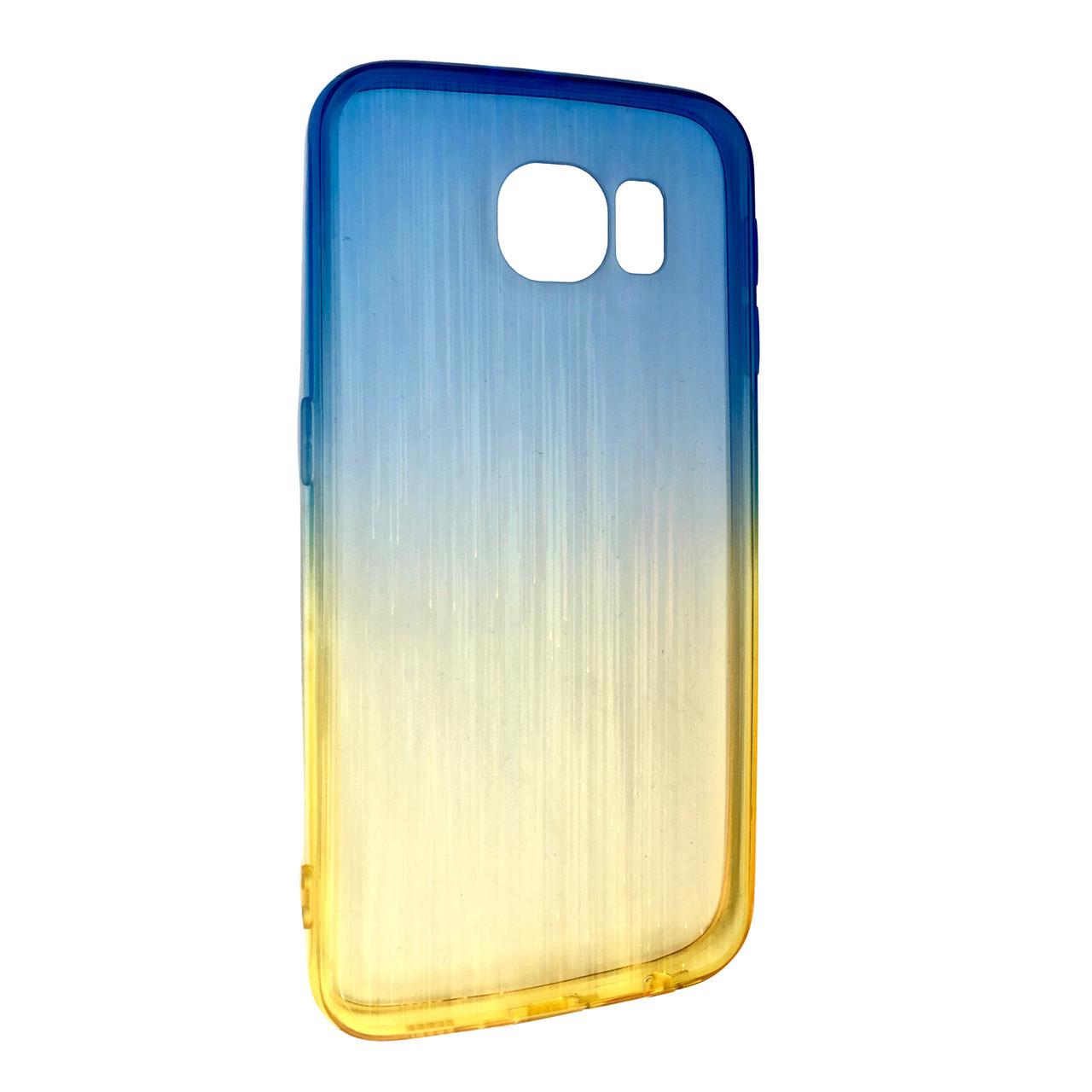 Чехол радуга градиент SAMSUNG S6 (yellow/blue)