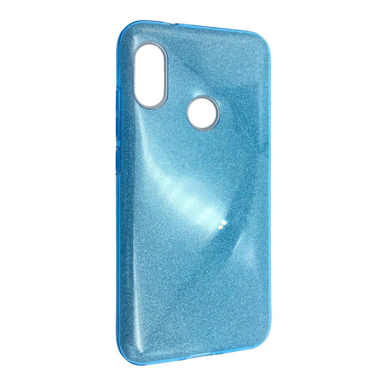 Чехол Silicone Glitter Heaven Rain Huawei P20 Lite (blue)