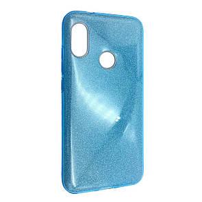 Чехол-накладка DK-Case Silicone Glitter Heaven Rain для Huawei P20 Lite (blue)