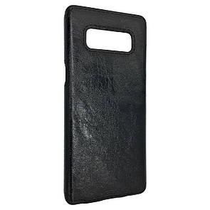 Чехол кожа Sitched Samsung Note 8 (black)