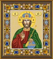 Набор для вышивания бисером(с камнями) икона Христос Спаситель
