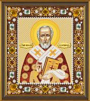 Набор для вышивания бисером(с камнями) икона Св. Николай Чудотворец