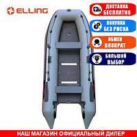 Лодка Elling PL-430K. Моторная, 4,30м, 7 мест, 950/950ПВХ, жесткое дно, киль. Надувная лодка ПВХ Эллинг ПЛ-430К;