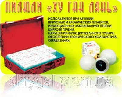Пилюли Ху Ган / Hu Gan 15 пилюль по 3 г.Востановление клеток печени