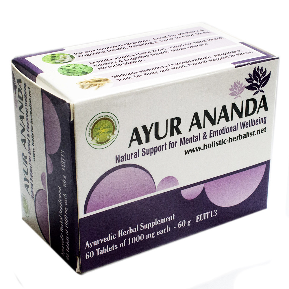 Аюр Ананда (Holistic Herbalist) - баланс центральной нервной системы, 60 таблеток
