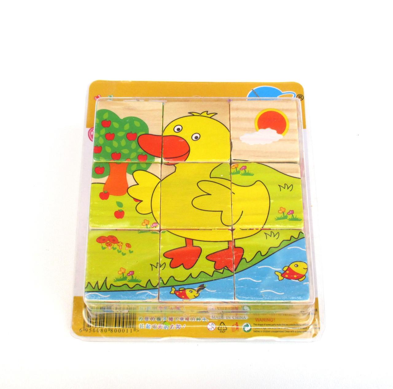 """Кубики """"Домашние животные"""", 6 рисунков"""
