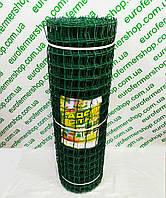 Забор садовый пластиковый. Ячейка 50х50 мм, рул. 1х20 м. (зеленый).