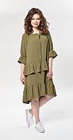 Платье Mali-499/2 белорусский трикотаж, хаки, 46