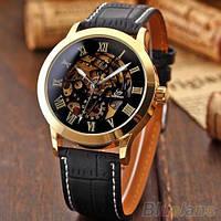 Механические часы Skeleton Classic Black