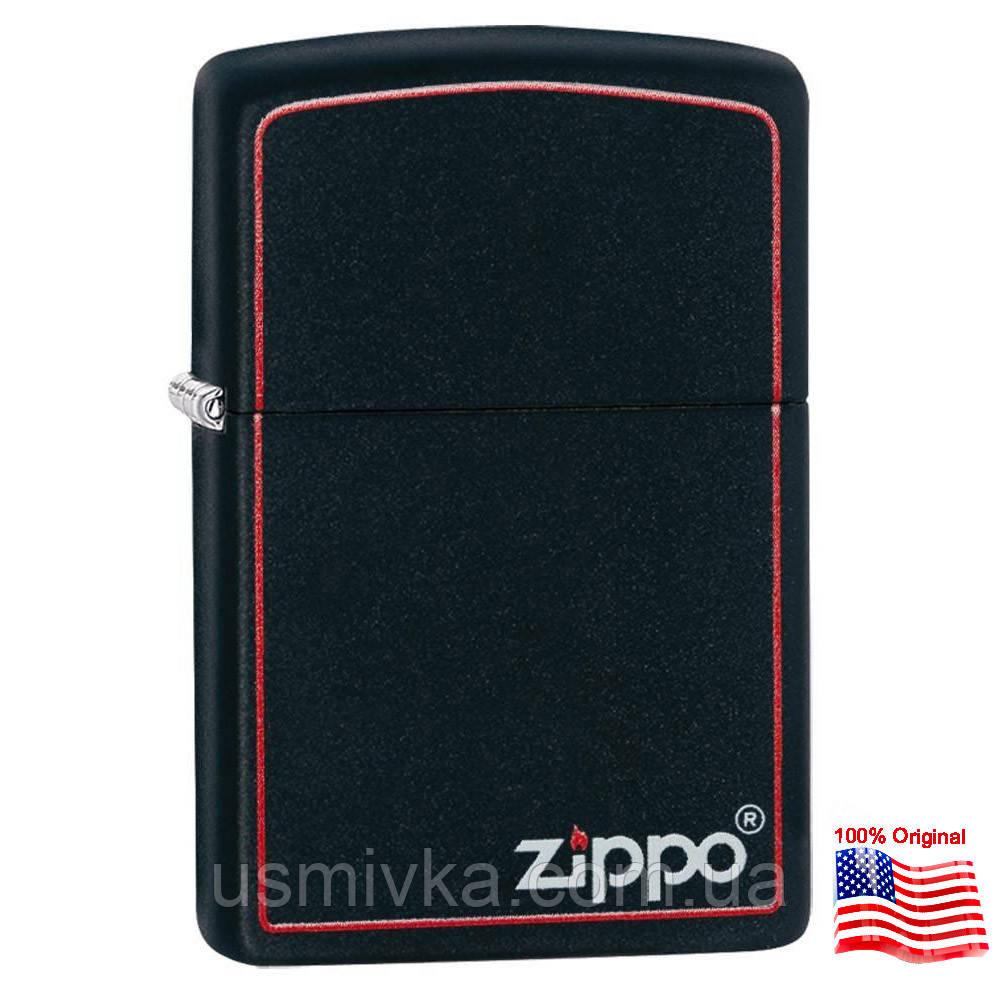 Зажигалка бензиновая Zippo 218 ZB BLACK MATTE (Черная матовая).