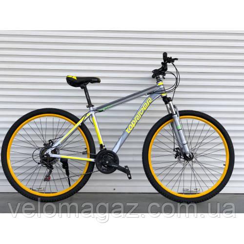"Велосипед горный TopRider-424 26"" алюминиевый желтый"