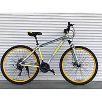 """Велосипед горный TopRider-424 26"""" алюминиевый желтый, фото 1"""