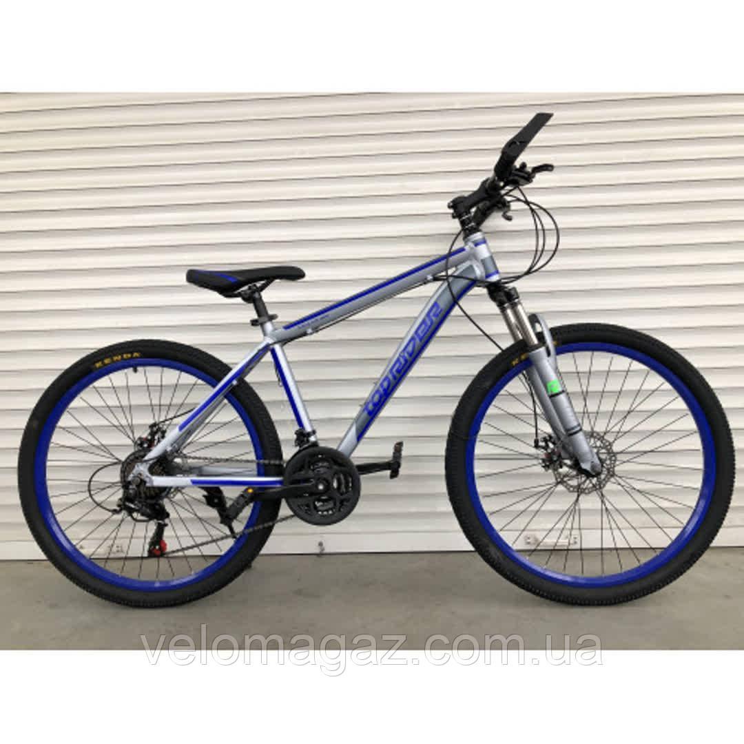 """Велосипед гірський TopRider-424 29"""" алюмінієвий синій"""